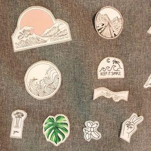 Set of Twelve VSCO Stickers